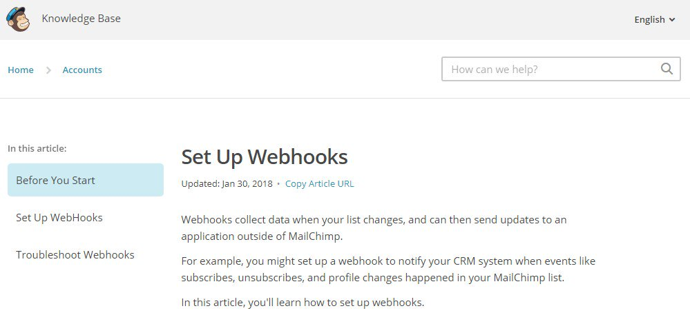 Meribook v5.9.0 update: Give content access using Mailchimp form and Webhook.